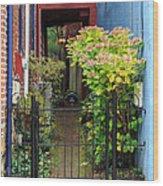 Downtown Garden Path Wood Print