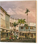 Downtown Hilo Sunday Morning Wood Print