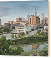 Downtown Houston From Uh-d. September Wood Print by Silvio Ligutti