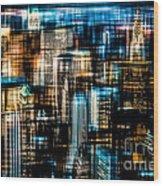 Downtown II - Dark Wood Print by Hannes Cmarits