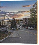 Downtown Ipswich Sunset Wood Print