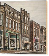 Downtown Jonesborough Wood Print