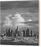 Downtown La Wood Print