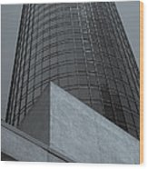 Downtown La Skyscraper Wood Print