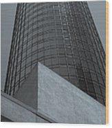 Downtown La Skyscraper Wood Print by Pro Shutterblade