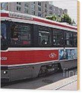 Downtown Light Rail Toronto Ontario Wood Print