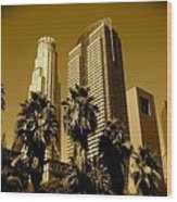 Downtown Los Angeles Wood Print