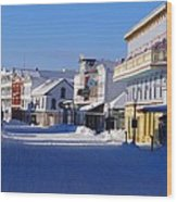 Downtown Mackinac In The Early Morning Wood Print