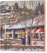 Patsy's Candies In Snow Wood Print