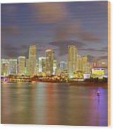 Downtown Miami And Aaa Wood Print