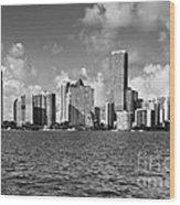 Downtown Miami Wood Print