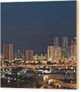 Downtown Miami Skyline At  Wood Print
