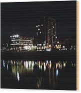 Downtown Morgantown From The Waterfront Wood Print