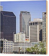 Downtown New Orleans Buildings Wood Print by Paul Velgos