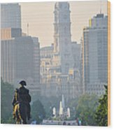 Downtown Philadelphia - Benjamin Franklin Parkway Wood Print