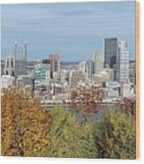Downtown Pittsburgh From Mount Washington 4 Wood Print
