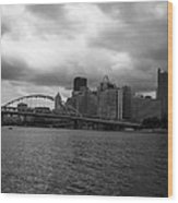 Downtown Pittsburgh Wood Print