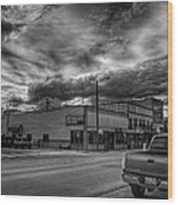 Downtown Sandpoint In Infrared 2 Wood Print
