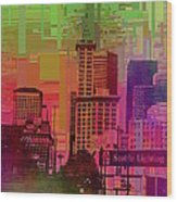 Downtown Seattle Cubed 1 Wood Print