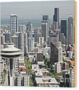 Downtown Skyline Of Seattle Wood Print