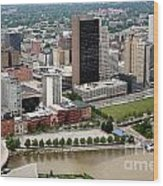 Downtown Skyline Of Toledo Ohio Wood Print