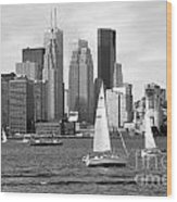 Downtown Skyline Of Toronto On Wood Print