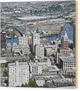 Downtown Tacoma Washington Wood Print