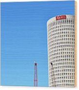 Downtown Tampa Photography - Leaning Tower Of Sykes - Sharon Cummings Wood Print