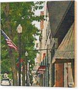 Downtown Usa Wood Print