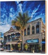 Downtown Ventura Wood Print