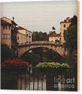 Downtown Vicenza Wood Print