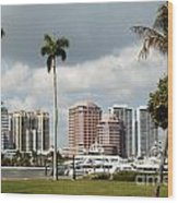 Downtown West Palm Beach Wood Print