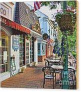 Downtown Worthington Wood Print