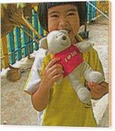 Dq Bear Lover At Baan Konn Soong School In Sukhothai-thailand Wood Print
