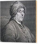 Dr Benjamin Franklin Wood Print