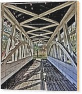 Dr. Knisely Covered Bridge Wood Print