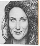 Dr. Lisa Cuddy - House Md Wood Print by Olga Shvartsur