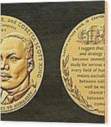 Dr Martin Luther King Jr And Coretta Scott King Bronze Medal Art Wood Print