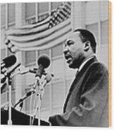 Dr Martin Luther King Jr Wood Print