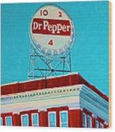 Dr Pepper Sign Roanoke Virginia Wood Print