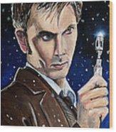 Dr Who #10 - David Tennant Wood Print