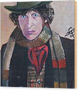Dr Who #4 - Tom Baker Wood Print