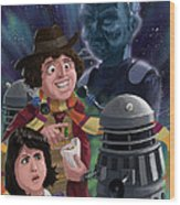Dr Who 4th Doctor Jelly Baby Wood Print