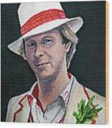 Dr Who #5 - Peter Davison Wood Print