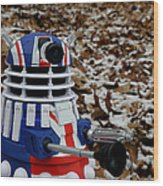 Dr Who - Forest Dalek Wood Print