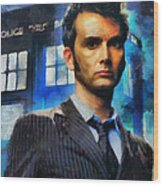 Dr Who Number 10  Wood Print