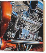 Drag Queen - Hot Rod Blown Chrome  Wood Print