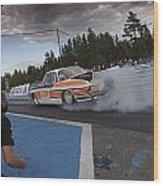 Drag Racing 3 Wood Print