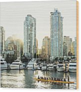 Dragon Boating In Vancouver Wood Print