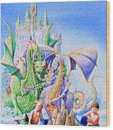 Dragon Castle Wood Print